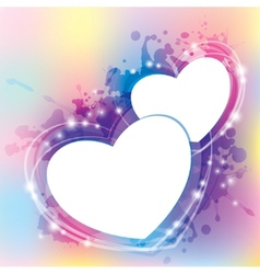 abstract with hearts vector image