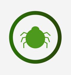 Antivirus icon on white background vector