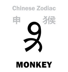 Astrology monkey sign chinese zodiac vector