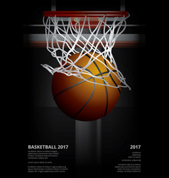 Basketball poster advertising vector