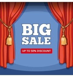 Big sale special offer background for vector image