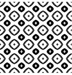 black and white seamless pattern in boho style vector image