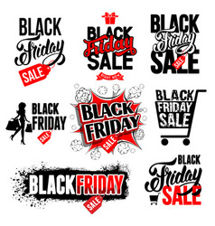 Black friday sale labels set vector