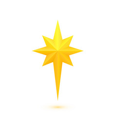 bright golden christmas star vector image