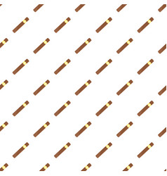 brown cigar of cuba icon flat style vector image