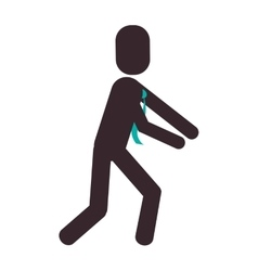 Businessman leaning pictogram icon vector
