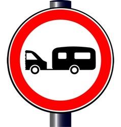 Caravan Sign vector