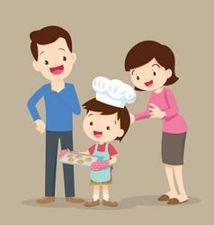 children cooking cookies vector image
