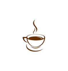 coffee cup hot logo icon vector image