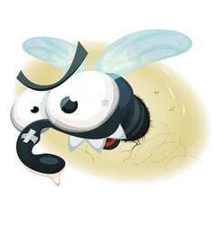 comic funny housefly vector image