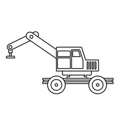 Crane truck icon outline vector