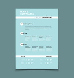 Cv resume employment application form with job vector