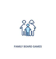 Family board games concept 2 colored icon simple vector