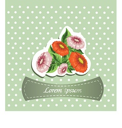 Floral and decorative document template vector image