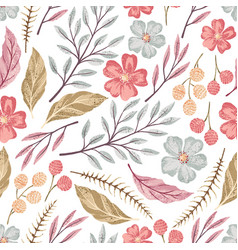 floral seamless textured pattern vector image