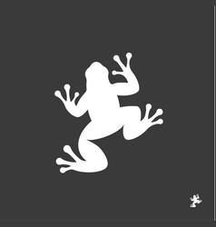 Frog sign minimalism modern mark logo vector