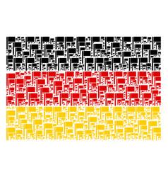 German flag pattern of flag items vector