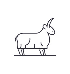 goat line icon concept goat linear vector image