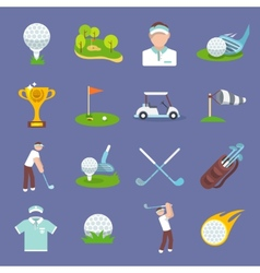 Golf Icon Flat vector image