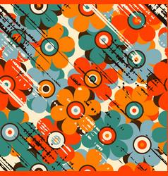 Grunge floral seamless pattern vector