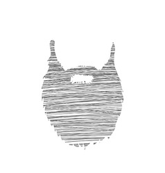 Hand drawn scribble Beard isolated on white vector image