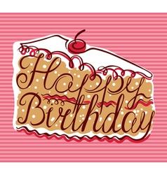 Happy Birthday lettering vector