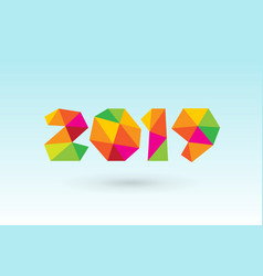 Happy new year 2019 greeting card design vector