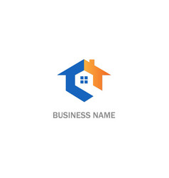 Home realty roof business logo vector