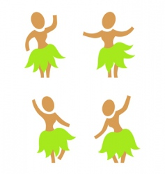 Hula dancers vector