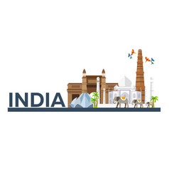 india indian architecture tourism travelling vector image