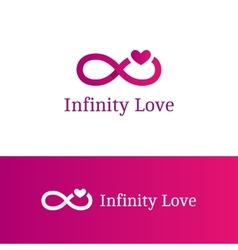 infinity sign with heart logotype Modern vector image