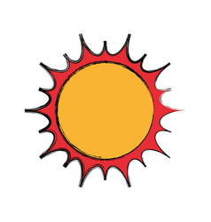 Isolated big sun vector