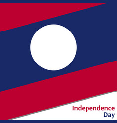 Laos independence day vector