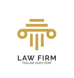Law firm logo design inspiration vector
