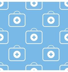 Medic bag seamless pattern vector image