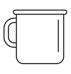 Metal cup icon outline style vector