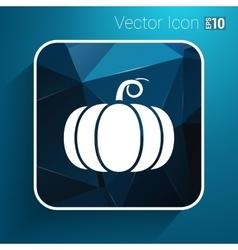 Monochrome of pumpkin logo vector