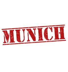 munich grunge stamp vector image