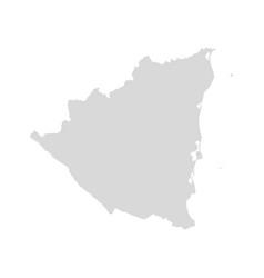 nicaragua map country nicaragua america vector image