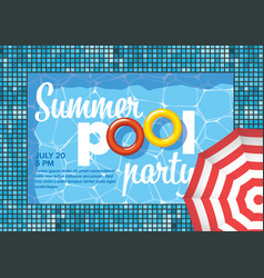 pool party invitation flyer poster template vector image