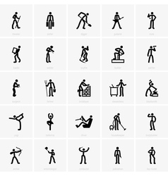 Professions icons vector