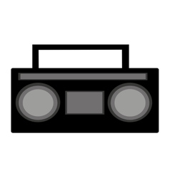 Radio old music player vector
