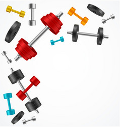 realistic 3d detailed gym equipment dumbbell vector image