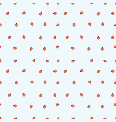 seamless background with ladybugs simple vector image