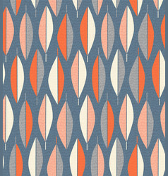 Seamless mid century modern feather pattern vector