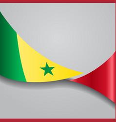 Senegalese wavy flag vector