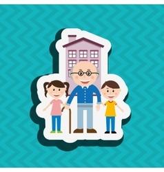 Silhouette family design vector