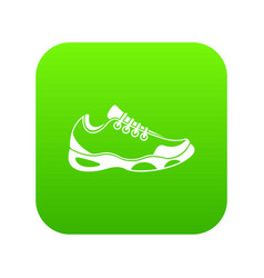 sneakers for tennis icon digital green vector image
