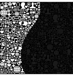 Social media network icon background vector