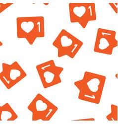 social media notification sign icon seamless vector image